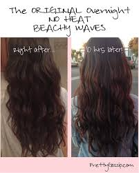 why is my hair curly in front and straight in back no heat overnight beachy waves worth a try though i doubt my