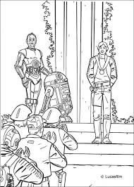 victory celebration luke r2 d2 and c 3po coloring pages