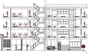 hotel floor plan dwg plan of multi flooring hotel architecture layout dwg file