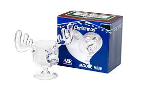 amazon com christmas eggnog moose mug single mug gift boxed