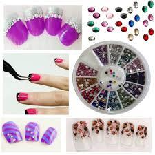 amazon com new8beauty nail art kit 3d rhinestones colorful and