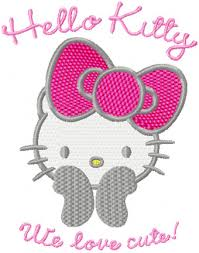 kitty love cute machine embroidery design quilt