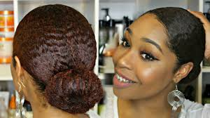 how to get 3c hair natural hair slick bun soft glam get ready wit youtube