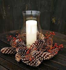 pine cone table decorations hurricane shade centerpieces the gardeners bittersweet