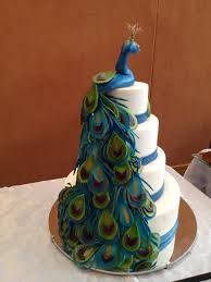 Peacock Themed Wedding Peacock Themed Wedding Structure Cake By Cakesncuppies Cakesdecor