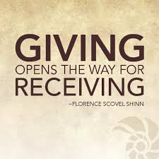 giving opens the way for receiving always givemore more