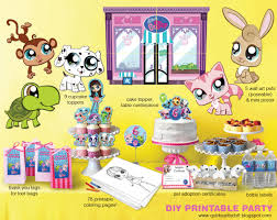 littlest pet shop printable birthday kit quirky artist loft