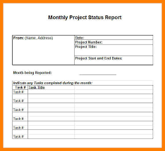 project monthly status report template monthly project status report template excel joblettered
