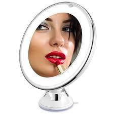 sanheshun 7x magnifying lighted travel makeup mirror charmax 7x magnifying lighted makeup mirror w bag natural led