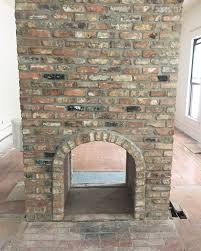 new fireplace made to look old we used antique bricks to build