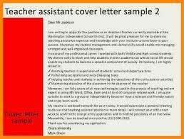 sample cover letter for teacher assistant teacher cover letter