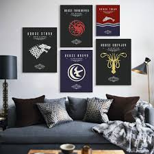 Game Home Decor Online Buy Wholesale Game Of Thrones Home Decor Wall Art Picture