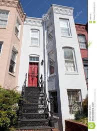 italianate style row house home washington dc usa royalty free