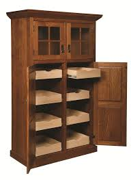 Oak Kitchen Pantry Storage Cabinet Wood Storage Cabinets With Doors And Shelves Kitchen Island