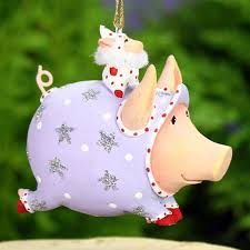 patience brewster mini tinkerbell pig ornament wooden duck shoppe