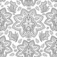 paisley pattern vector seamless black and white paisley pattern stock vector colourbox