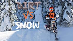 snow motocross bike dirt vs snow first time on a snow bike motocross feature