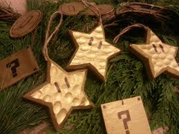 we made some super mario ornaments for our christmas tree from