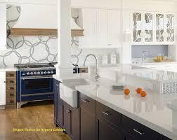 silestone cuisine ptoir quartz silestone blanc marbre cuisine bleu élégant photos de