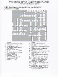 daily messes vacation crossword puzzle word finds crossword