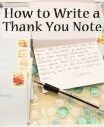 how to write the perfect note thank you notes birthday greetings
