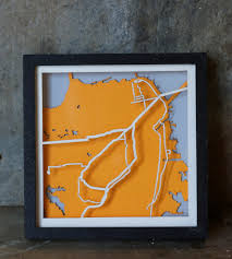 Muni San Francisco Map by San Francisco Muni Laser Cut Mini Map Art Art Pieces