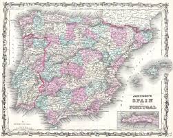 Spain And Portugal Map by File 1862 Johnson Map Of Spain And Portugal Geographicus