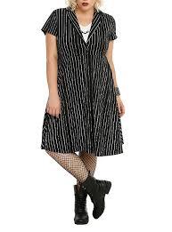 the nightmare before skellington pinstripe dress