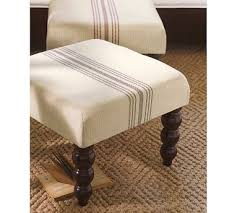 sofa breite sitzflã che ticking stripe footstool maybe on a larger ottoman family room