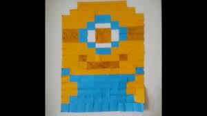 diy room decor ii sticky note wall art ii minion youtube