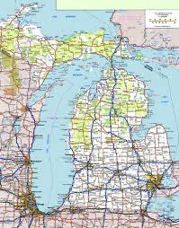 road map usa map of usa michigan all world maps
