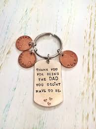 personalized step dad keychain hand stamped by jordanlynnsgems