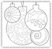tree ornament coloring page vector coloring page