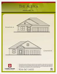 landon homes featuring the alexa floor plan benton lakes is