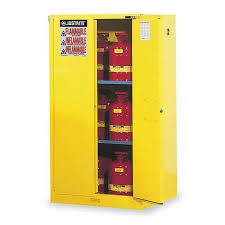 Yellow Flammable Storage Cabinet Justrite Flammable Safety Cabinet 60 Gal Yellow 896020 Zoro