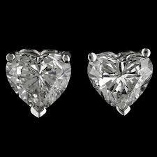 heart shaped diamond earrings image gallery heart shaped diamond earrings