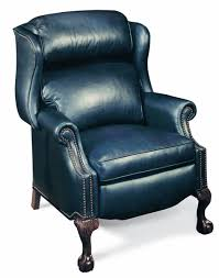 bradington ball u0026 claw reclining wing chair with brass nails
