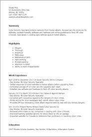 professional cyber security specialist templates to showcase your