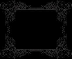 border black white ornaments or nts clipart