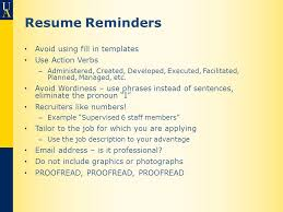 Use Action Verbs Resume by Resumes Cover Letters And Job Searching Ppt Video Online Download