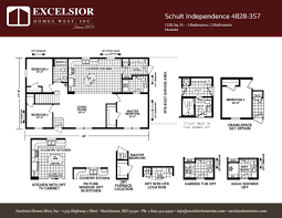 Country Kitchen Floor Plans by Schult Independence 4828 357 Excelsior Homes West Inc