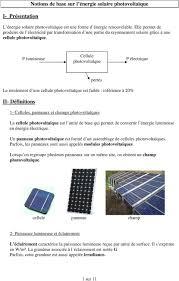 bureau d ude photovoltaique notions de base sur l énergie solaire photovoltaïque pdf