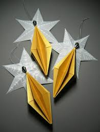 origami ornaments by all things paper project home decor