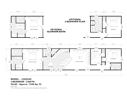 single section mobile home floor plans home plan