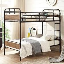 walker edison furniture company sunset twin over twin metal bunk