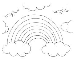 rainbow clouds coloring pages 30851 bestofcoloring