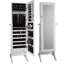 Full Length Mirror Jewelry Storage Decor Pretty Design Of Jewelry Armoire Walmart Perfect Ideas For