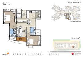 Absolute Towers Floor Plans by Sterling Grande Towers Whitefield Bangalore 1 2 U0026 3 Bhk