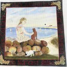 cape cod cats lost tails hand painted needlepoint canvas elizabeth