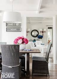 Simple White Dining Room Honeysuckle Life Cape Cod Cottage Chic New England Home Magazine